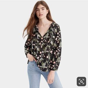 JCREW Point Sur peasant top in Liberty® print
